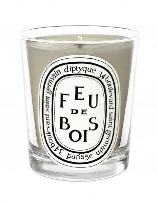 Scented Candle Grey Feu de Bois