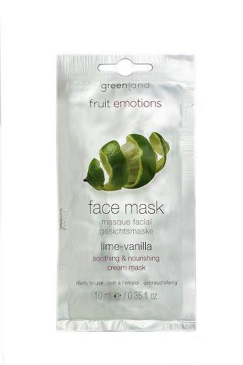 Face mask lime-vanilla, soothing & nourishing cream mask