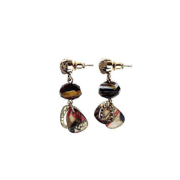 Hamerred Chain Earring