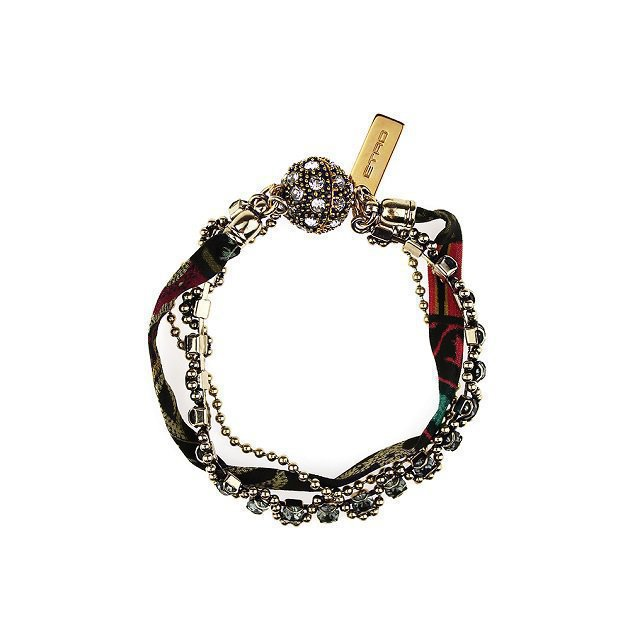 Thin Chain Bracelet with Small Flowers