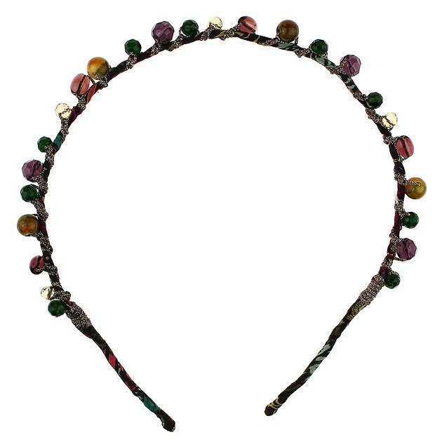 Braided Headband With Rhinestone