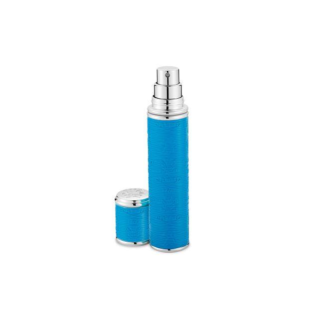 Neon Blue with Silver Trim Pocket Atomizer