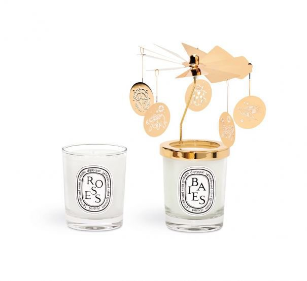Set of Two Small Candles And Carousel
