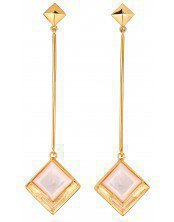 MOONLIGHT PENDANT EARRINGS yellow gold