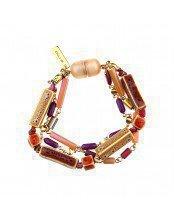 Multi-Strand Bracelet with Geometric Elements