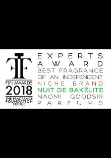 Nuit de Bakelite получил парфюмерную премию FIFI AWARD FRANCE 2018